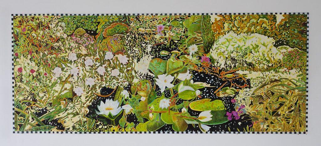 Trädgården 122x300 cm olja på furulamell